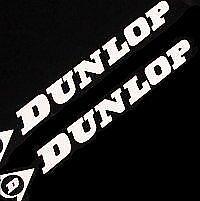 DUNLOP WHITE 8.25in 21cm decal sticker r1 gsxr 600 500 gsx 650 sv GS 550 rim 750
