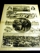 Salem Massachusetts WITCHCRAFT SPINNING WHEEL Bradsteet Endicott 1886 Lg Print