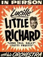 MUSIC CONCERT ADVERT LITTLE RICHARD LUCILLE ORCHESTRA USA POSTERPRINT BB6775B