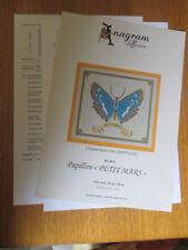 """Grille Point de Croix Originale Anagram : Papillon """"PETIT MARS"""" ref. A975"""