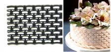 Patchwork Cutters BASKETWEAVE- Cake Decorating Embosser Cutter