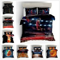 3D Basketball Kids Bedding Set Sports Duvet Cover Pillowcase Comforter Cover