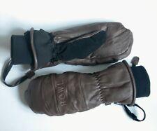 Howl Brown Leather Ski Gloves Medium M