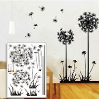 Removable Art Vinyl DIY Dandelion Wall Sticker Decal Mural Home Room Decor New