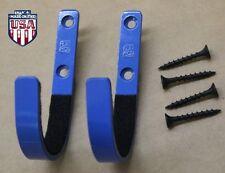 FLATIRON™   Wall Mount Gun Rack Hooks Shotgun Bow Rifle Sword Hangers - BLUE