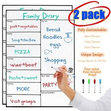 Pack of 2 Magnetic Whiteboard Memo Stickers Message Boards for Refrigerator