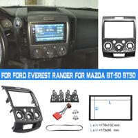 2 Din Fascia Stereo Panel For Ford Everest Ranger Mazda BT-50 BT50 + ISO Cable