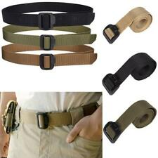 Uomo Cintura Militare 3.8 cm Nylon Fibbia Regolabile Cintura Tattica Kaki