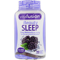 Vitafusion Beauty Sleep Gummies 5 mg Melatonin Berry Flavor 90 Count, 1 Pack