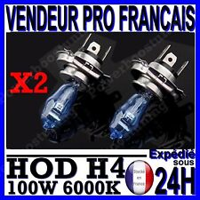 LOT 2 AMPOULE PLASMA HOD H4 100/90W LAMPE HALOGENE BIXENON EFFET BLANC 6000K 12V