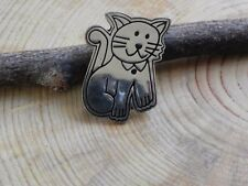 Sterling Silver Cat Pin signed E F S Taxco Mexico