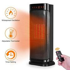 Trustech Electric Space Heater, 750W 1500W Fast Heating Portable Oscillating Cer