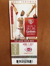 Amir Garrett First Win. Cincinnati Reds Vs Cardinals 4/7/17 Ticket.