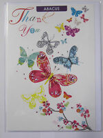 LOVELY COLOURFUL BUTTERFLIES THANK YOU GREETING CARD