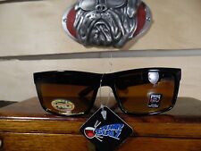 Men's Pugs Gear HI REZ BILOXI AMBER Sunglasses - BLACK Plastic Frames UV400