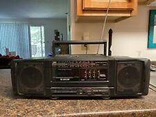 Vintage JVC PC-90 Cassette Stereo Radio Boombox Black Detachable Wired Speakers