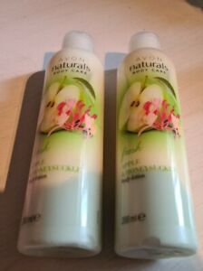 X2 Avon Naturals Apple & Honeysuckle Body Lotion 200ML Brand new!!