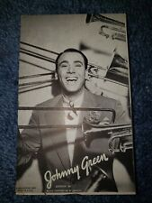 Johnny Green 1940's-50's Mutoscope Music Corp of America Postcard