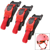 3x Motorcycle Bike Helmet Chin Strap Speed Sewing Clip 3 Quick Release Buckle PL