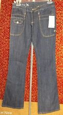 NWT HURLEY light weight dark wash denim skinny flare jeans size 1 (T35-02D7G)