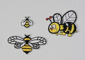 Honey Bee Iron / Sew On Embroidered Applique Motif #2-1