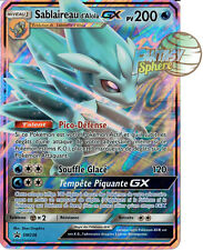 Pokemon Sablaireau d'Aloa GX sm236 Full Art Soleil et Lune Jumbo Promo Francais