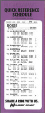 Hughes Airwest Airlines Boise timetable 4/25/76 [7114] Buy 4+ save 50%