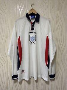 ENGLAND 1998 1999 HOME FOOTBALL SHIRT JERSEY LONG SLEEVE UMBRO sz XXL