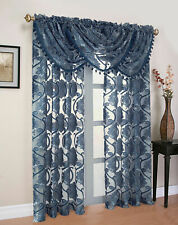 Milawi Organza Sheer Voile Window Curtain Treatments - Assorted Colors & Sizes