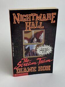 Vintage NIGHTMARE HALL The Scream Team 1993 Diane Hoh YA Thriller Paperback Book