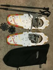 NEW! PowdeRidge CREST 25 Aluminum SNOWSHOES Powder Ridge snow shoes & 6000 POLES