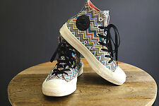 CONVERSE Missoni Chuck Taylor High Top Sneakers, Sz 6.5 (fits Sz 7)