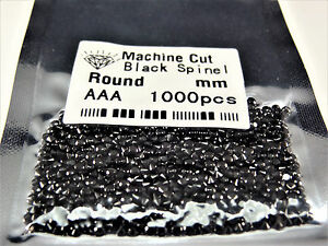 Black Round Brilliant Cut SIZE CHOICE Loose Natural Spinel Stones WHOLESALE