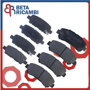 Pastiglie Freno Per Nissan Qashqai J10 JJ10 Kit 8 Pattini Anteriori e Posteriori