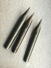 Set of 3 vintage dip nibs. NOS.  W&R Holmes Royal pen school dip pen nibs