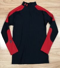 UNDER ARMOUR Cold Gear Compression Shirt YLG Red And Black