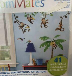 Wall stickers 41 big decals room decor banana tree vines swinging Monkey
