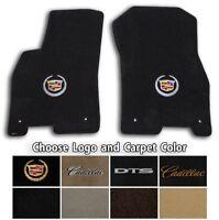 2006-2011 Cadillac DTS 2pc Velourtex Carpet Floor Mat Set - Choose Color & Logo