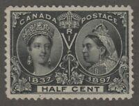 Canada 1897 1/2c Jubilee Queen Victoria Scott #50 VF Mint OG