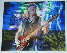 Deep Purple - Signed 8x10 Color concert photo of Roger Glover