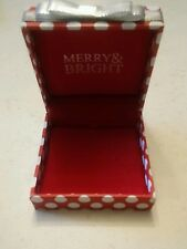000 Empty Christmas Gift  BOX MERRY & BRIGHT