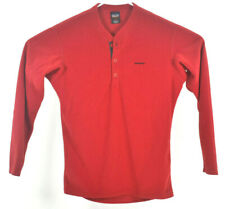 Vintage Patagonia Capilene Red Button Neck Henley Fleece Base Layer Small USA