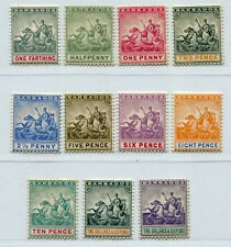 QV BARBADOS QV JUBILEE 1892 SCOTT 70-80 SG 105-115 LOVELY MH SET TOP VALUE IS NH