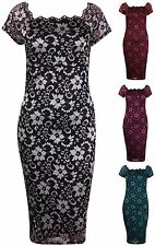 Lace Boat Neck Dresses for Women