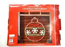 Christmas Ornament Lighted Instant Decor Window Decoration Impact Innovations