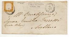 ANTICHI STATI 1862 SARDEGNA 10 C. GIALLO OCRA NAPOLI/SUCCURSALE S.CARLO D/2217