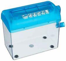 SANWA SUPPLY hand shredder PSD-12 A4 vertical two-fold straight cut blue 4969887