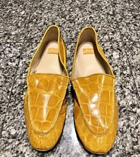 Brioni Yellow Crocodile Men's Slippers Shoes