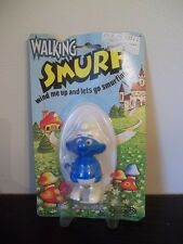 VINTAGE GALOOB Wind Up WALKING SMURF New Old Stock Peyo WALLACE BERRIE