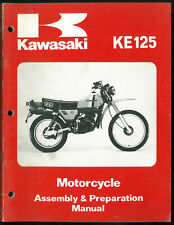 Manual KAWASAKI KE 125 A7 Assembly & Preparation 1979 - 1980 Manuel de Montage